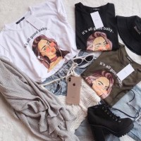 Tumblr Tee / T-Shirt / Kaos Wanita Lengan Pendek All Good Baby