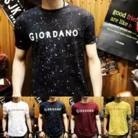 Baju kaos t-shirt pria distro giordano spot 5 warna cowok/cewek casual