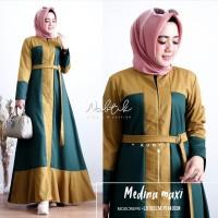 Maxi Dress Fashion Muslim Medina Kunyit