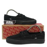Sepatu Vans Zapato Del Barco full Black Insole Checkerboard 36-44 BNIB