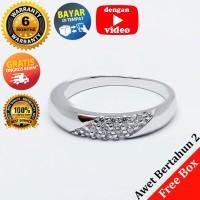 RL 222 - Cincin Perak Sterling 925 Emas Putih ASLI Korea, Awet 7 thn