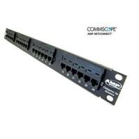 AMP Commscope Patch panel 24 Port Cat5 Cat 5e ORIGINAL Cat 5 24Port