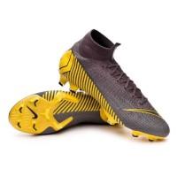 Sepatu bola Nike Mercurial superfly VI Elite Grey yellow Original