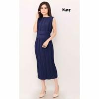 Dress plisket - maxi dress plisket 594