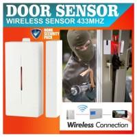 Wireless Magnetic Switch 433 MHZ Sensor Pintu / Gate Door Sensor Alarm