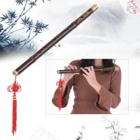 ♫Professional Black Bamboo Dizi Flute Traditional Handmade Chinese