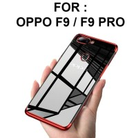 TPU PLATING case Oppo F9 Pro softcase casing back cover ultra thin
