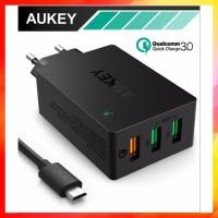 DISKON AUKEY QUALCOMM PA T14 QUICK CHARGE 3 0 3 PORT USB