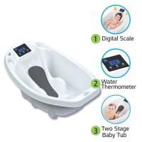 Aqua Scale Timbangan Bayi Digital, Termometer dan Bak Mandi Bayi