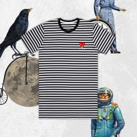 Kaos Play Basic Stripe dengan Kearifan Lokal
