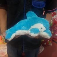 BONEKA IKAN BABY SHARK DOLPHIN DOLPIN LUMBA LUMBA PAUS BIRU MUDA