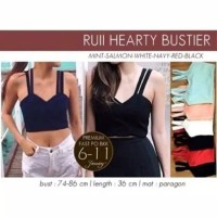Hearty bustier - Hitam