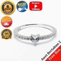 RL 226 - Cincin Perak Sterling 925 Emas Putih ASLI Korea, Awet 7 thn