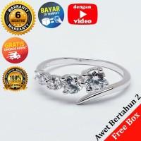 RL 225 - Cincin Perak Sterling 925 Emas Putih ASLI Korea, Awet 7 thn - 5