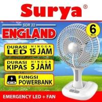 Kipas Angin Emergency + Lampu Arashi AR 138  England