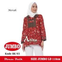Blouse Batik Jumbo, Atasan Batik Wanita Jumbo, Baju Batik Wanita Kerja