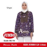 Blouse Batik Jumbo, Atasan Batik Wanita Jumbo, Baju Batik Wanita 001