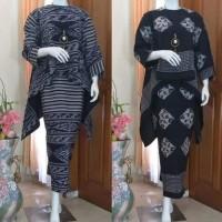 setelan baju tenun dan rok tenun etnic jepara motif toraja