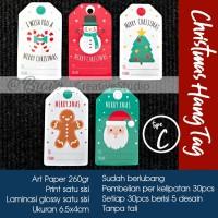 Laminasi Lux Christmas Hang Tag Kartu Ucapan Hadiah Kado Natal