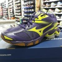 Sepatu Volly Mizuno Wave Bolt 6 ungu/yellow