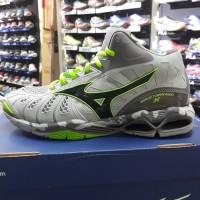 Sepatu Volly Mizuno Wave Tornado X Mid Grey/Green/Black