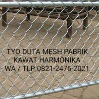 Kawat pagar harmonika galvanis dan pvc hijau harga murah jakarta700