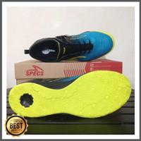 Sepatu futsal specs metasala musketeer black coct blue 400735 origina