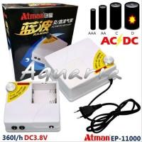 ATMAN EP-11000 AC/DC Air Pump Aerator Pompa Udara Listrik/Baterai p
