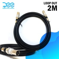 Kabel Loop Out Antena Set Top Box Male to female 2M