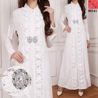 Gamis Wanita/Gamis Pesta/Baju Muslim/Gamis Dress Akad/Gamis Putih 03
