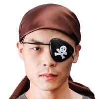 Penutup Mata Sebelah Pirate Eyepatch Bajak Laut Black Skull Eye Patch