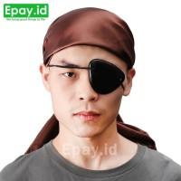 Penutup Mata Sebelah Pirate Eyepatch Bajak Laut Black Eye Patch Polos