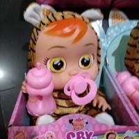 Boneka doll barbie baby cry baju motif macan bersuara 4 bukan LOL OMG