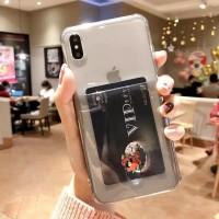 Anti Crack Card Holder Kartu Iphone XS MAX case casing cover