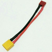 Converter XT60 male to T dean female with cable 14 AWG