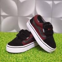 Sepatu Anak Vans Vans Old Skool Red Black Kids Murah