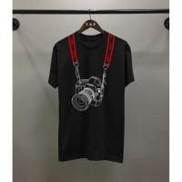 T-shirt Canon / Baju Kaos Distro Pria Wanita Hitam Pendek Slimfit