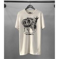 T-shirt Minion Rbt / Baju Kaos Distro Pria Wanita Putih Pendek Slimfit