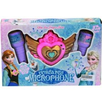 mainan anak mic frozen portable microphone double mic kado ultah anak