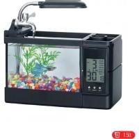 Aquarium Mini USB Fish Tank Desktop Akuarium ikan ( TG-03 ) - Hitam
