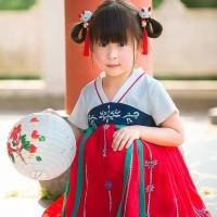 PROMO hanbok hanfu baju adat china anak baju dinasti tang red white