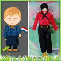PROMO Baju Negara Belanda/Holland Kostum Anak laki laki - 2-3 tahun