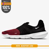 Sepatu Lari Nike Free RN Flyknit 3.0 Black Red Original AQ5707-007