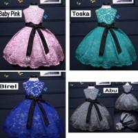 dress anak 1-4 thn/gaun pesta kondangan/baju ulang tahun brokat/jalan