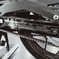 stiker informasi tekanan Ban dan Rantai Roda Honda Sonic 150R