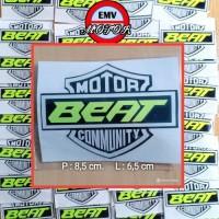 sticker stiker motor BEAT COMMUNITY nyala