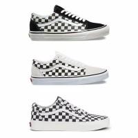 GRADE ORIGINAL! Sepatu Vans Old Skool Checkerboard - Hitam/Putih/Catur