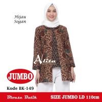 Atasan Batik Wanita Jumbo, Blouse Batik Jumbo, Baju Batik Kerja 01