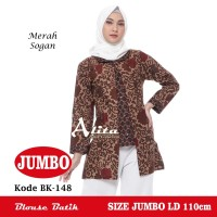 Atasan Batik Wanita Jumbo, Blouse Batik Jumbo, Baju Batik Kerja