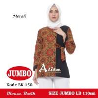 Atasan Batik Wanita Jumbo, Blouse Batik Jumbo, Baju Batik Big Size 002